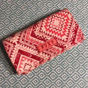 Roxy tribal canvas wallet